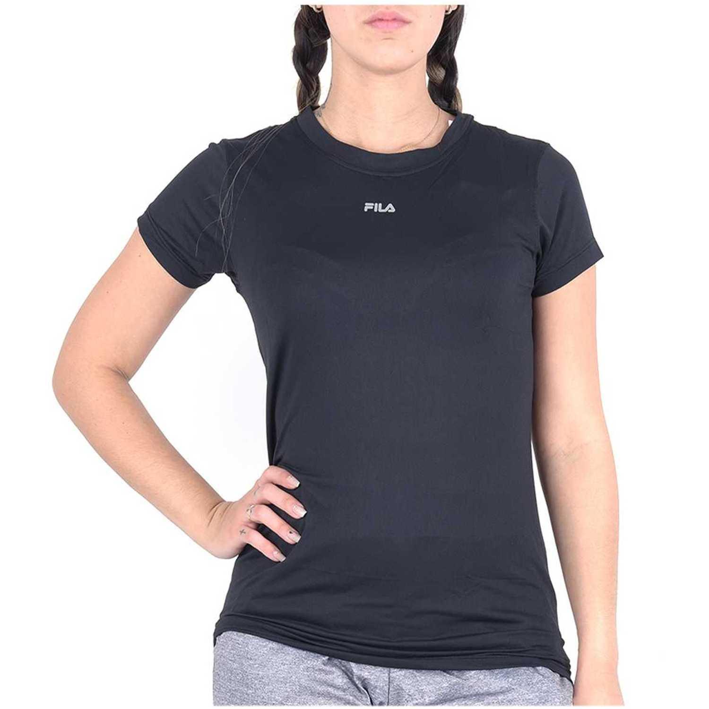 Fila camiseta fem. fila basic light ii Negro Camisetas y Polos Deportivos