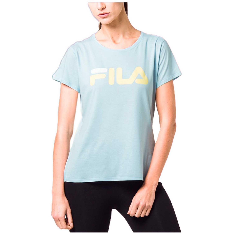 Polo de Mujer Fila Celeste camiseta fem. fila letter new