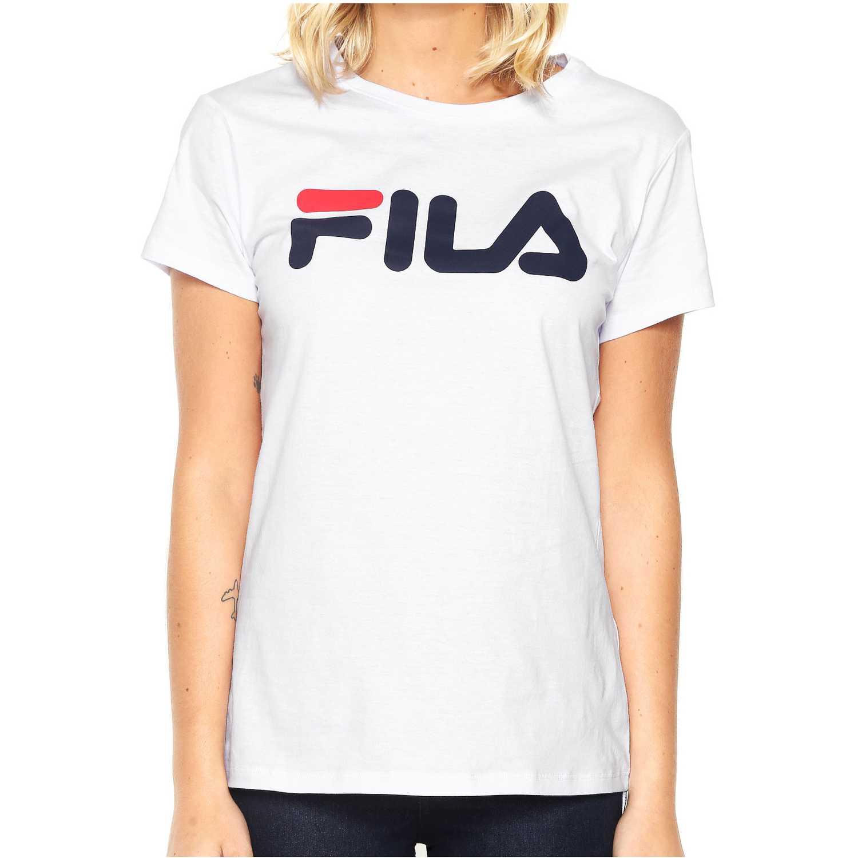 Deportivo de Mujer Fila Blanco camiseta fem. fila letter new