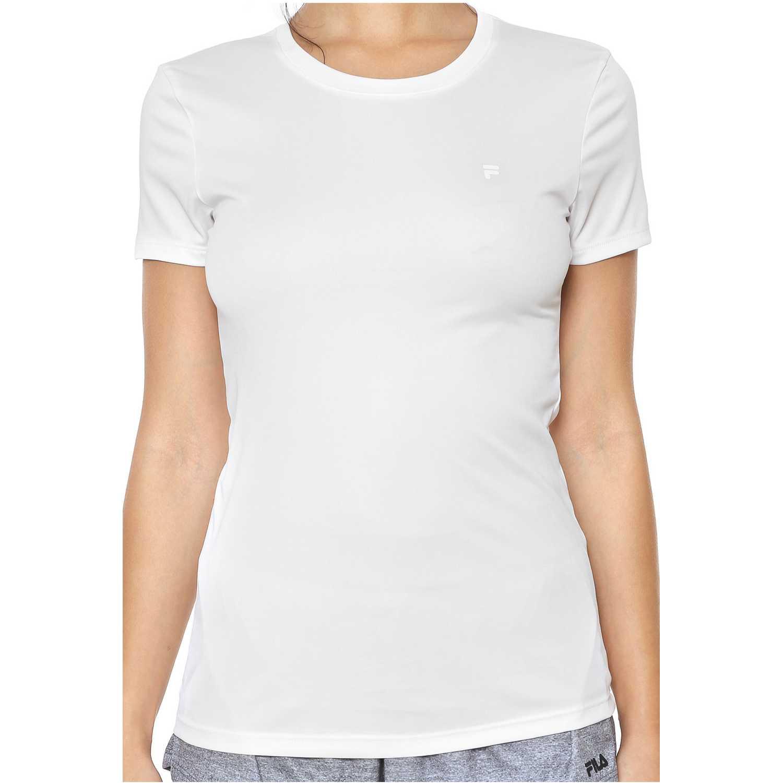 Polo de Mujer Fila Blanco camiseta fem. fila floating f ii