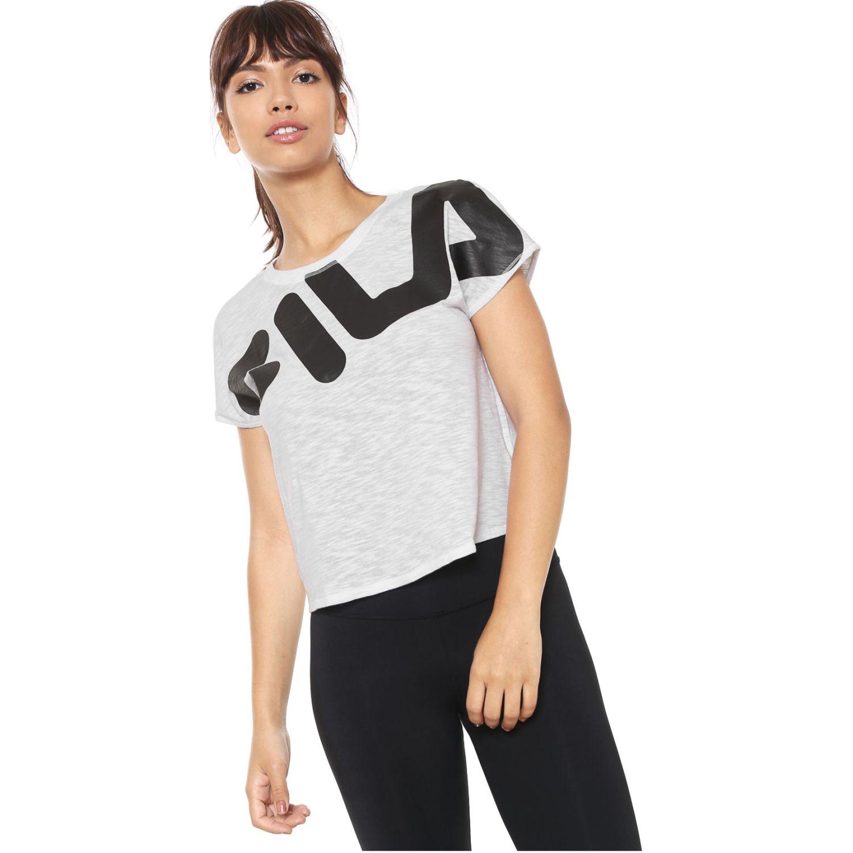 Polo de Mujer Fila Gris / negro camiseta fem. fila honey