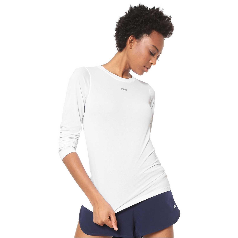 Polo manga larga de Mujer Fila Blanco camiseta ml fem. fila basic light ii