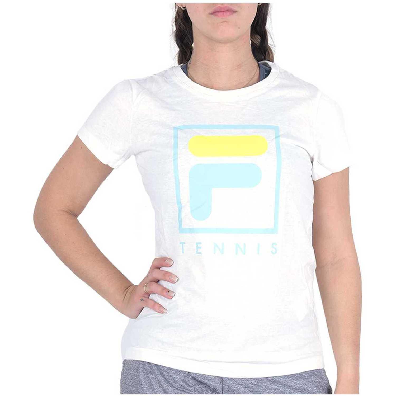 Deportivo de Mujer Fila Blanco / verde camiseta fem. fila soft urban