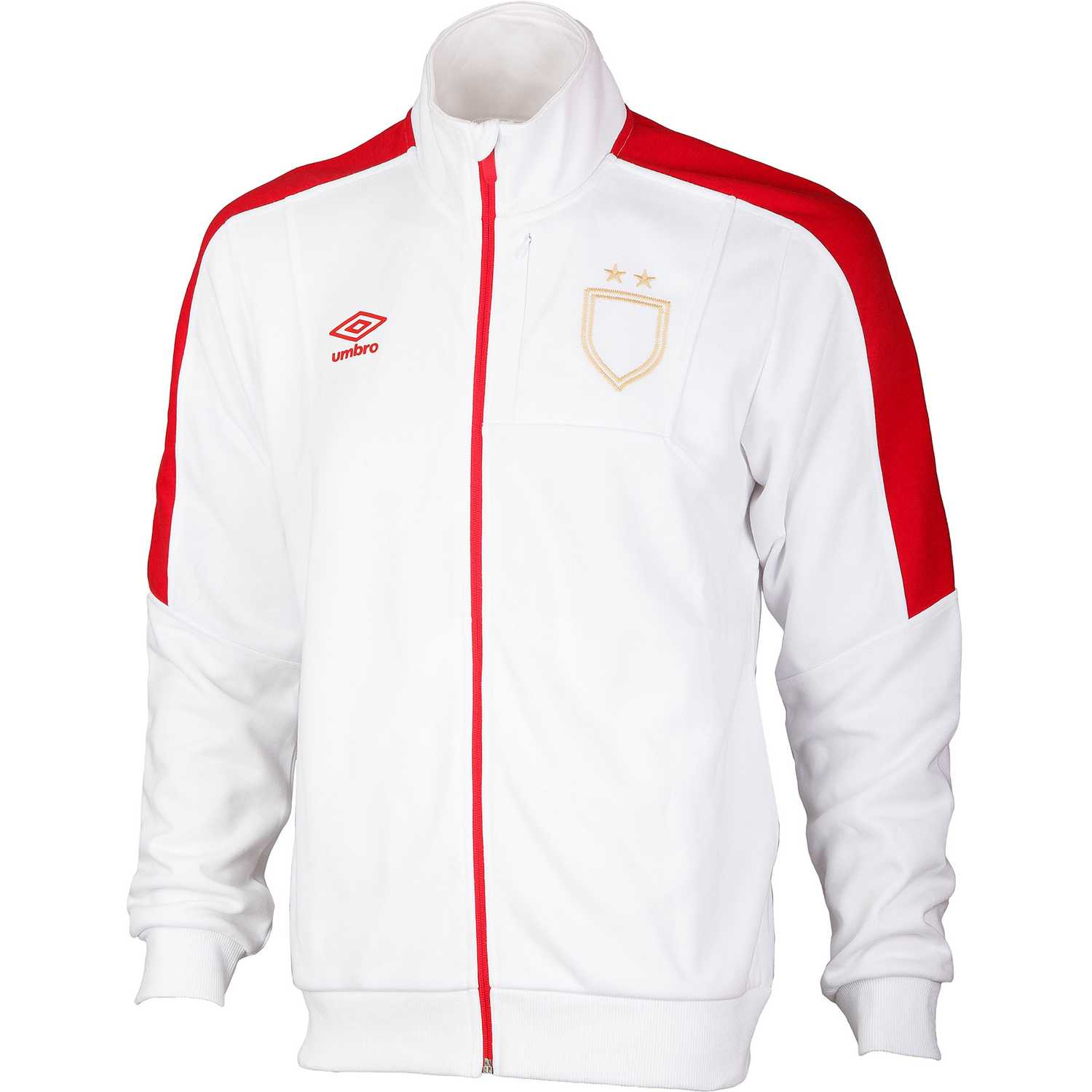 Umbro sash walkout jacket Blanco / rojo