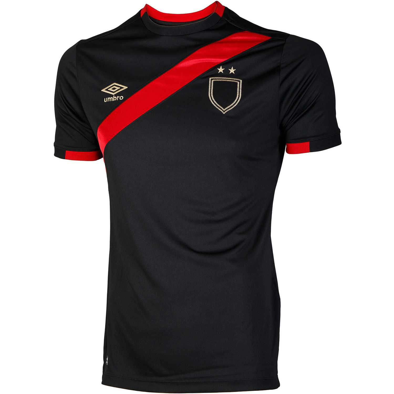 Camiseta de Hombre Umbro Negro / rojo sash jersey