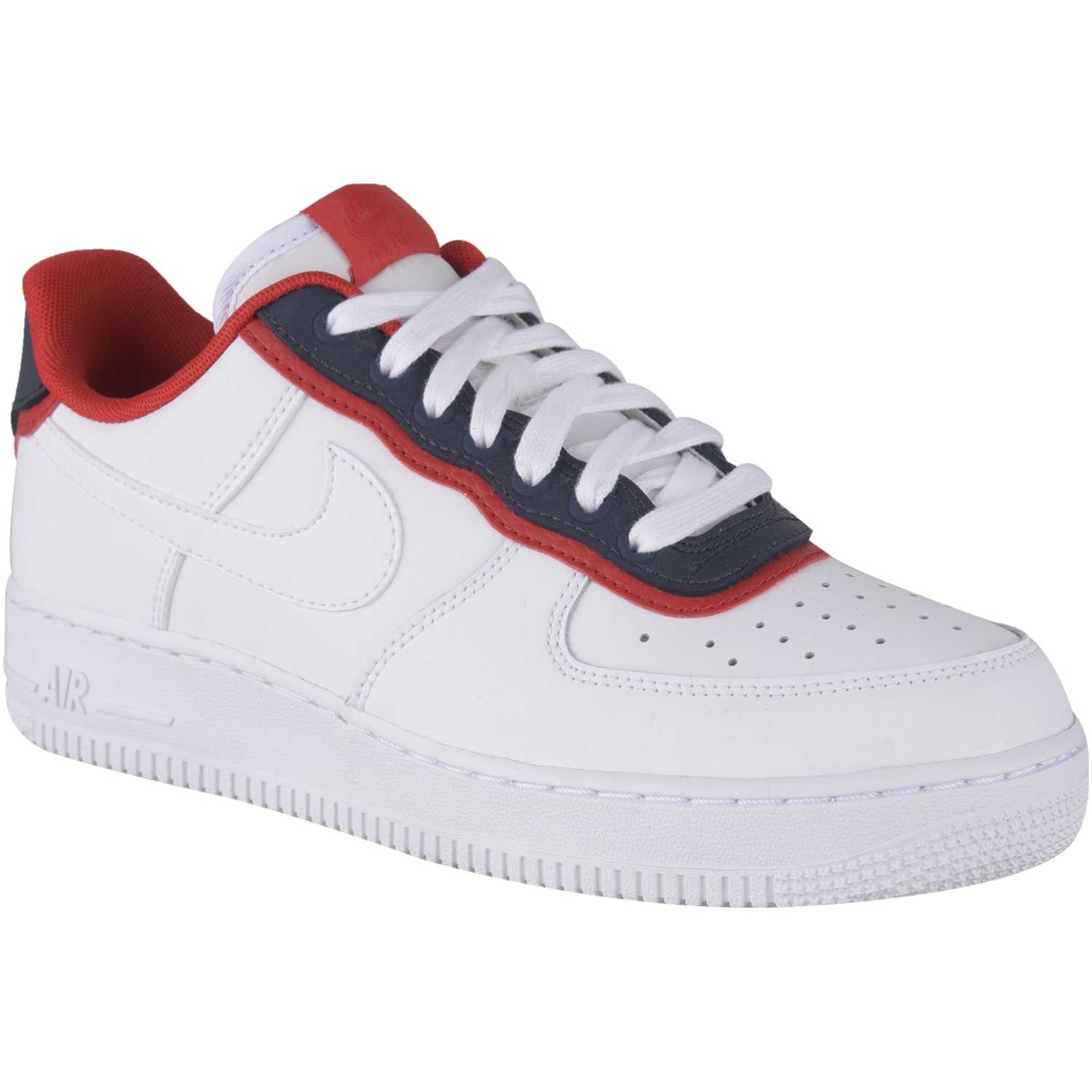 Casual de Hombre Nike Blanco rojo air force 1 '07 lv8 1
