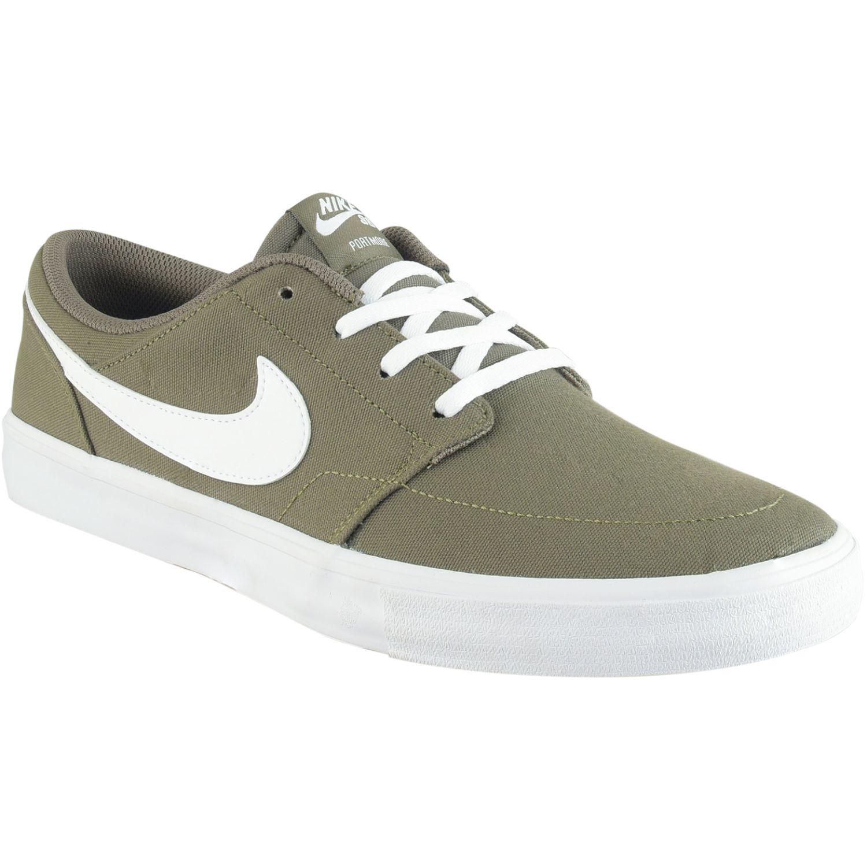 Nike Nike Sb Portmore Ii Solar Cnvs Verde / blanco Walking