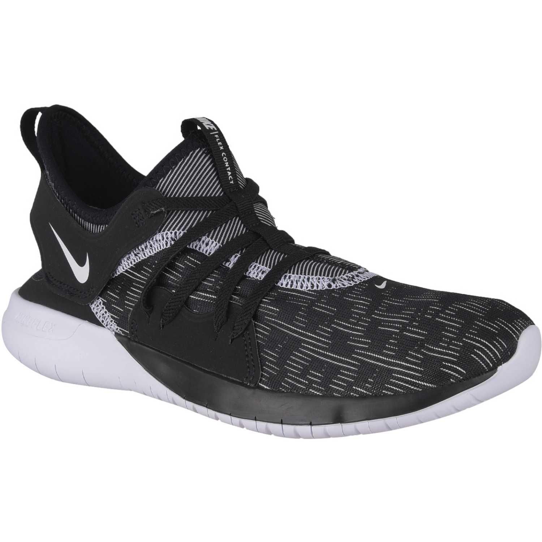 Nike Wmns Nike Flex Contact 3 Negro / blanco Calzado de correr