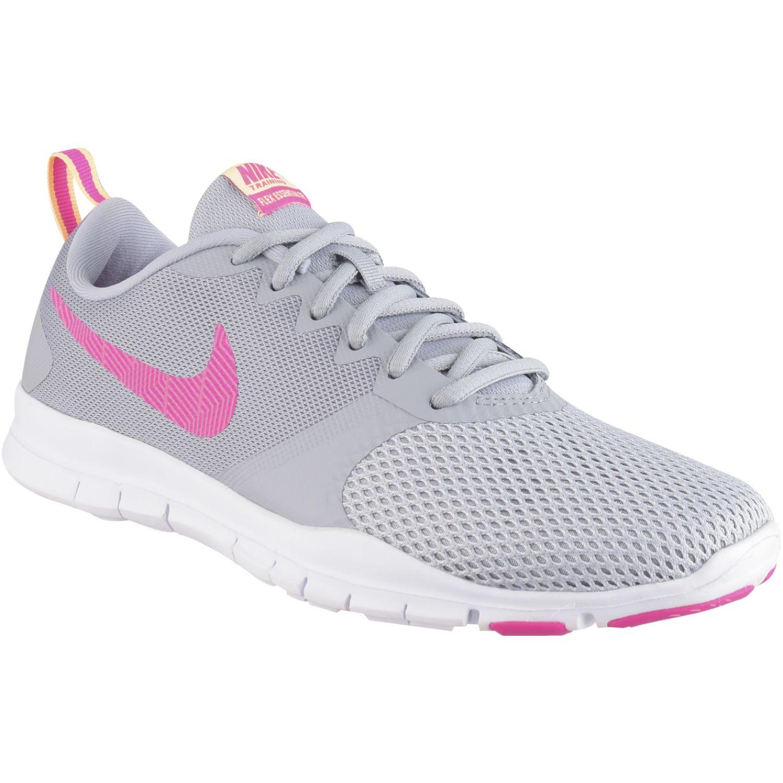 Nike Wmns Nike Flex Essential Tr Gris / fucsia Mujeres