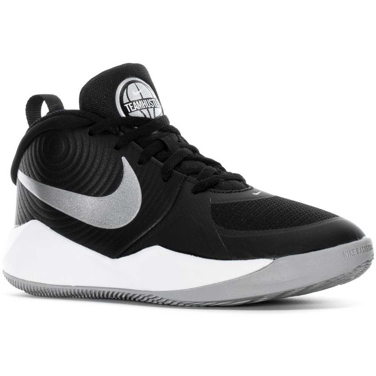 Nike Team Hustle D 9 Gs Negro / blanco Niños
