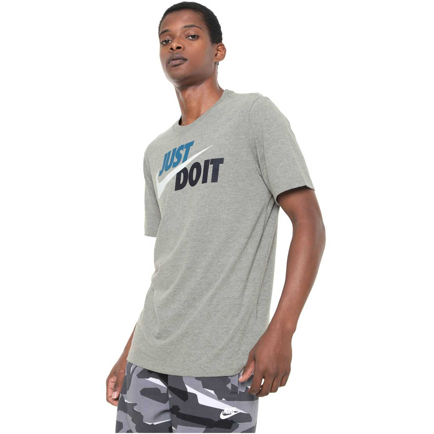 Deportivo de Hombre Nike Gris m nsw tee just do it swoosh