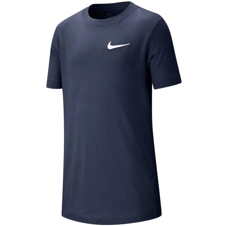 Nike b nsw tee emb swoosh Navy Camisetas y Polos Deportivos
