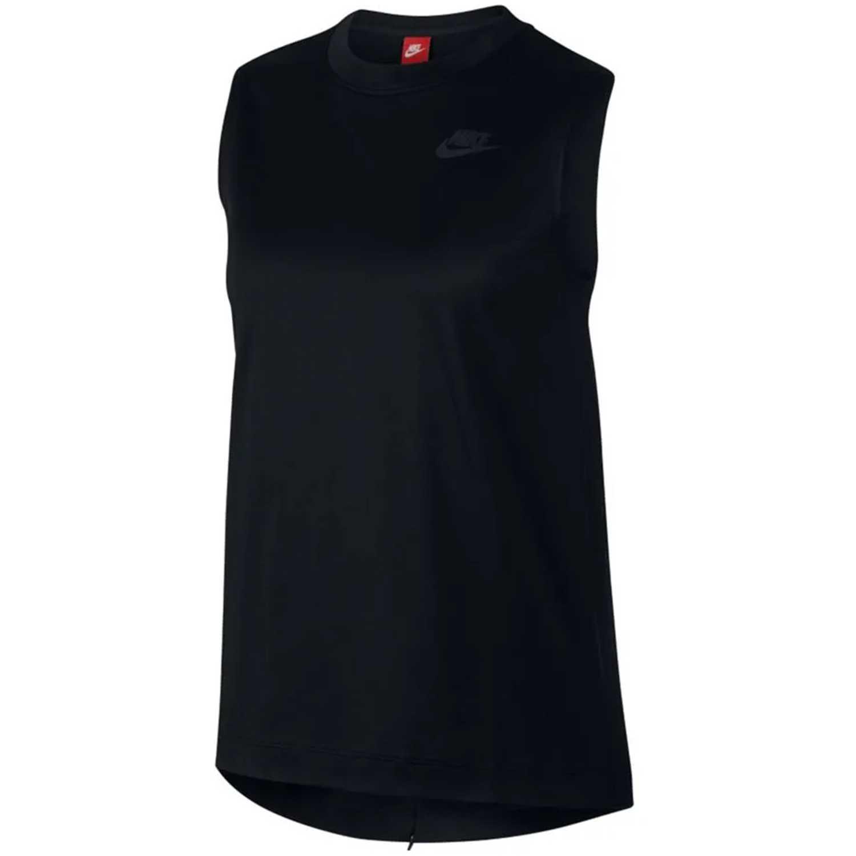 Nike W Nsw Tch Hprmsh Top Negro Camiseta sin mangas