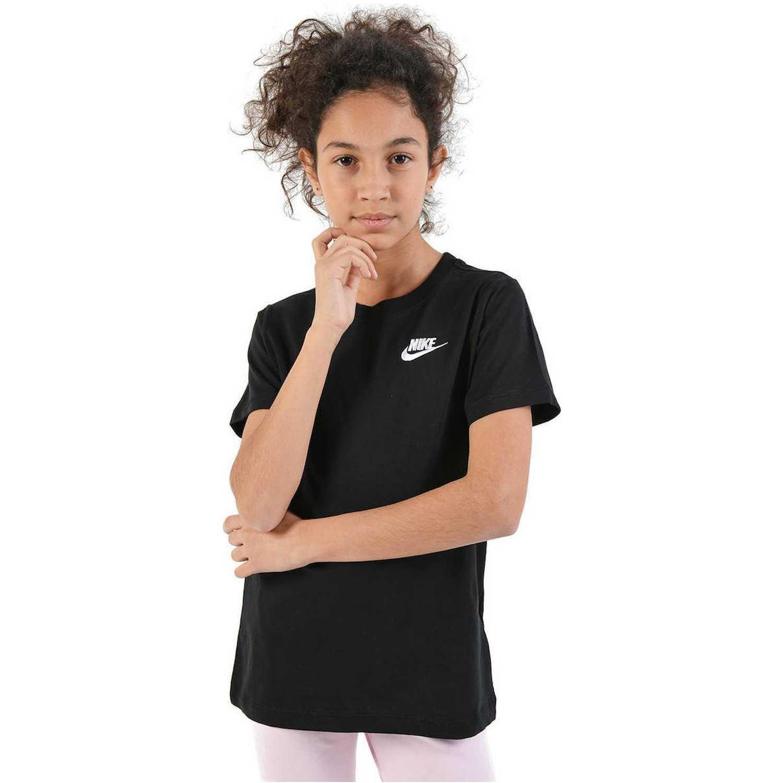 Nike g nsw tee emb swoosh Negro Polos