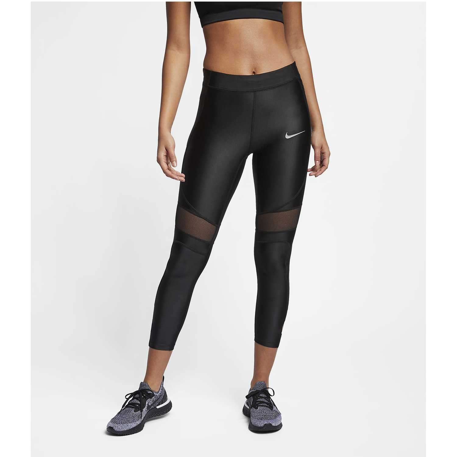 Nike w nk speed tght 7_8 sd Negro Leggings Deportivos