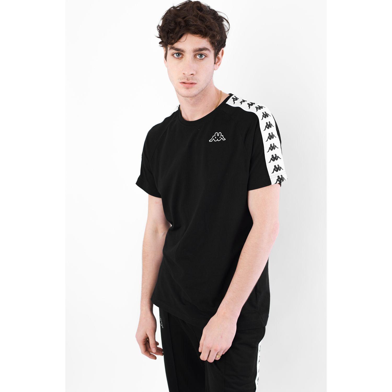 Kappa 222 Banda Coen Slim Negro / blanco Camisetas y polos deportivos