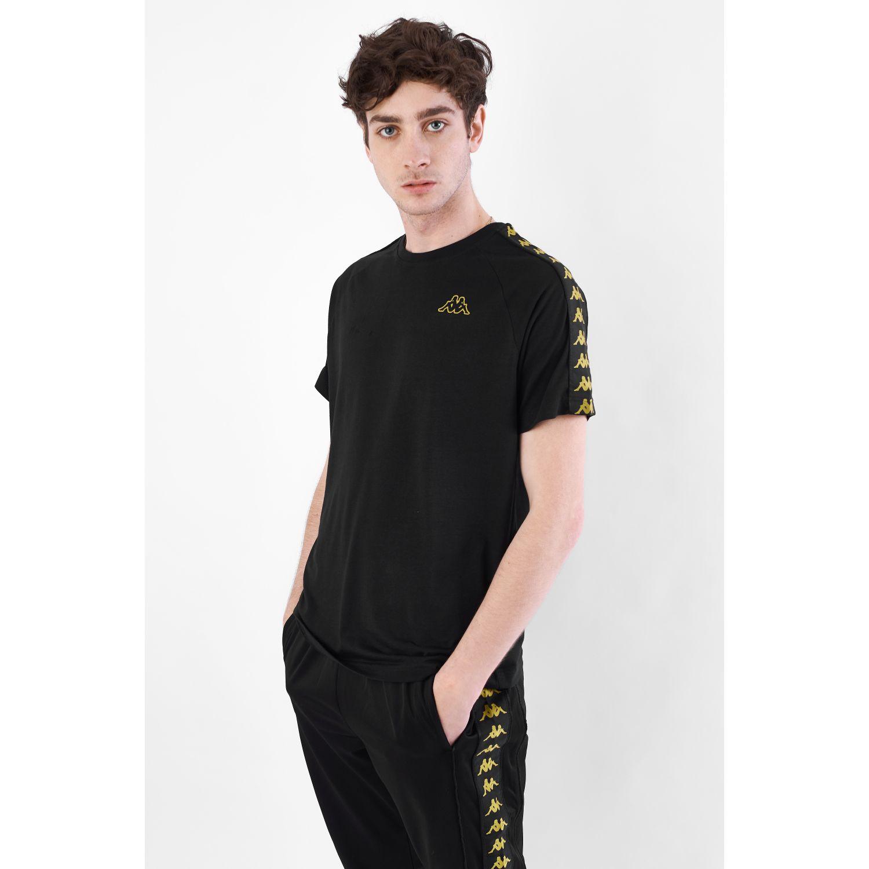 Kappa 222 Banda Coen Slim Negro Camisetas y polos deportivos