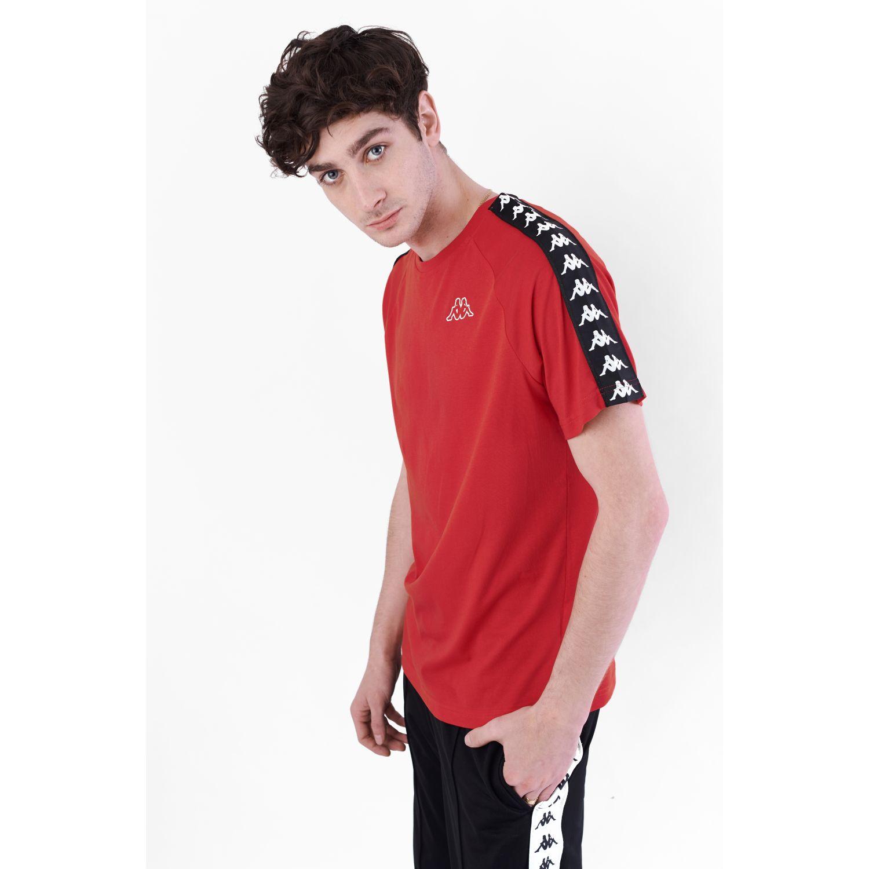 Kappa 222 Banda Coen Slim Rojo / negro Camisetas y polos deportivos