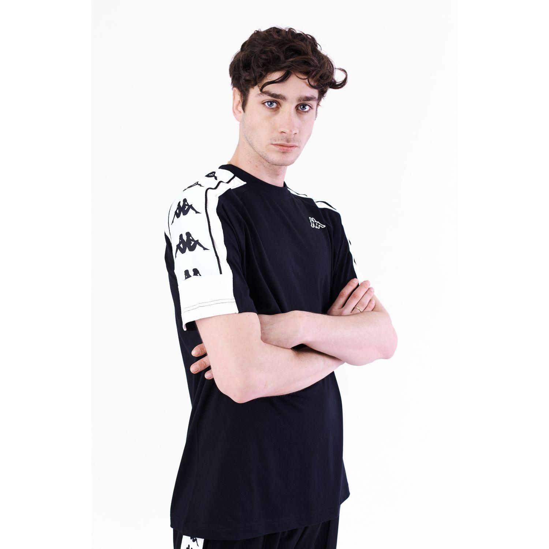 Kappa 222 Banda 10 Arset Negro / blanco Camisetas y polos deportivos