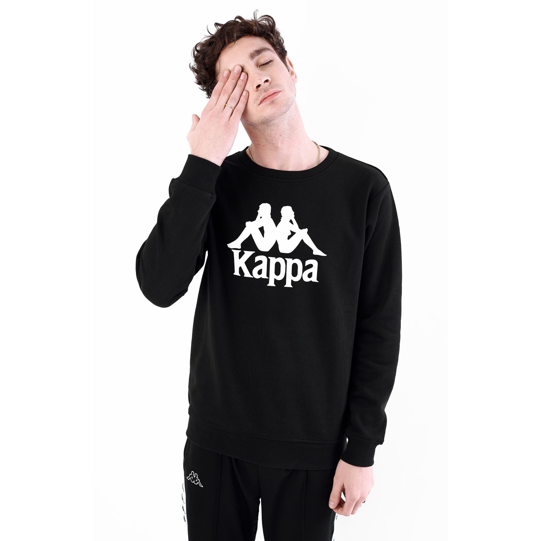 Kappa AUTHENTIC ESLOGARI Negro / blanco Hoodies y Sweaters Fashion