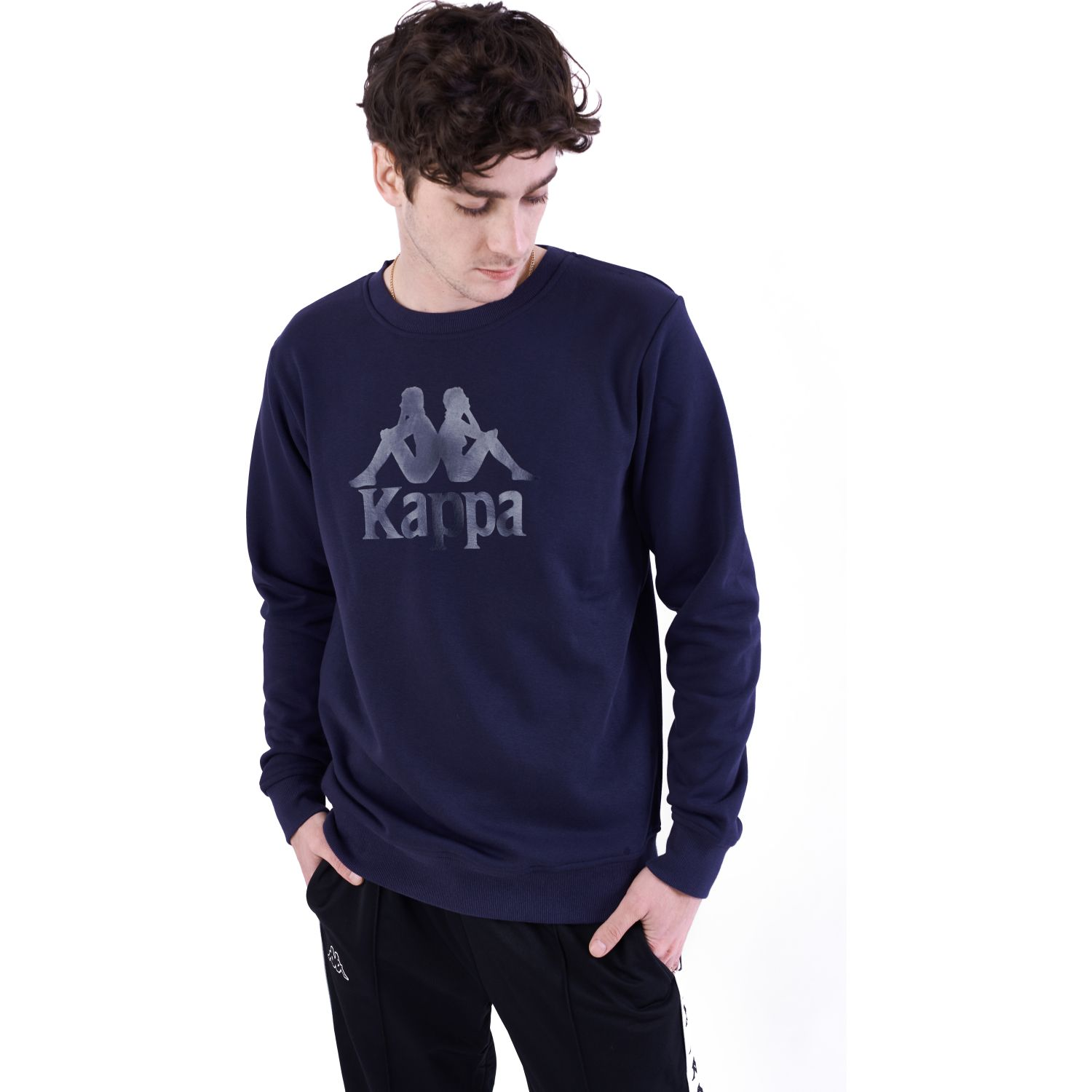 Kappa AUTHENTIC ESLOGARI Azul / negro Hoodies y Sweaters Fashion