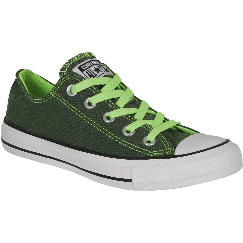 converse verdes neon