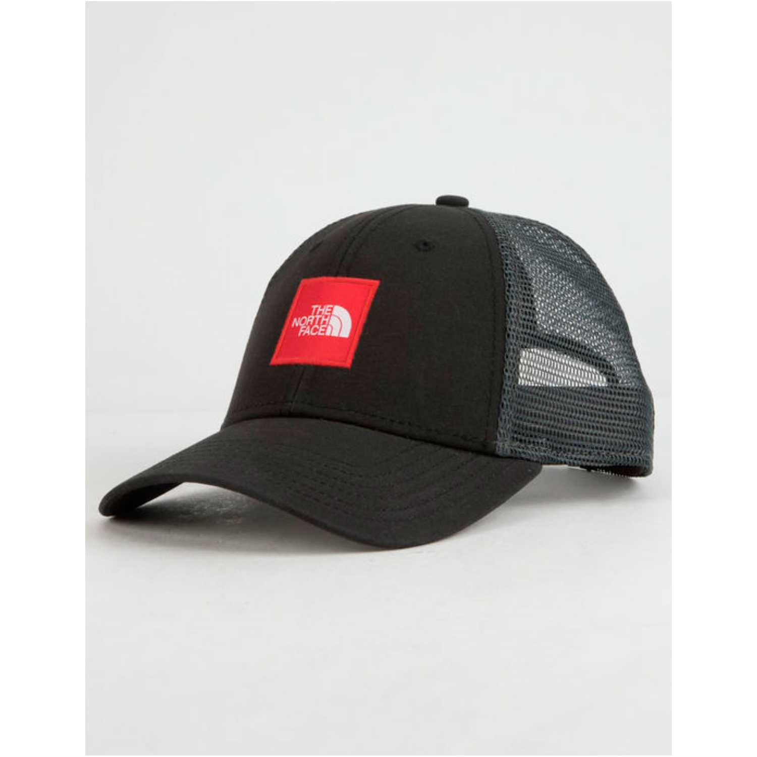 The North Face tnf box logo trucker Plomo / rojo Gorros de Baseball