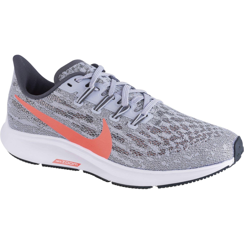 Nike WMNS NIKE AIR ZOOM PEGASUS 36 Gris / coral Running en pista