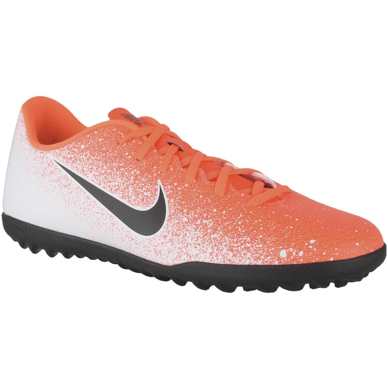 Nike vapor 12 club tf Naranja / blanco Hombres