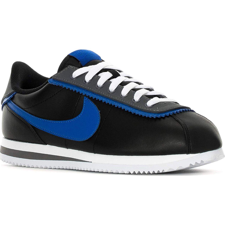 Nike cortez basic se Negro / azul Running en pista ...