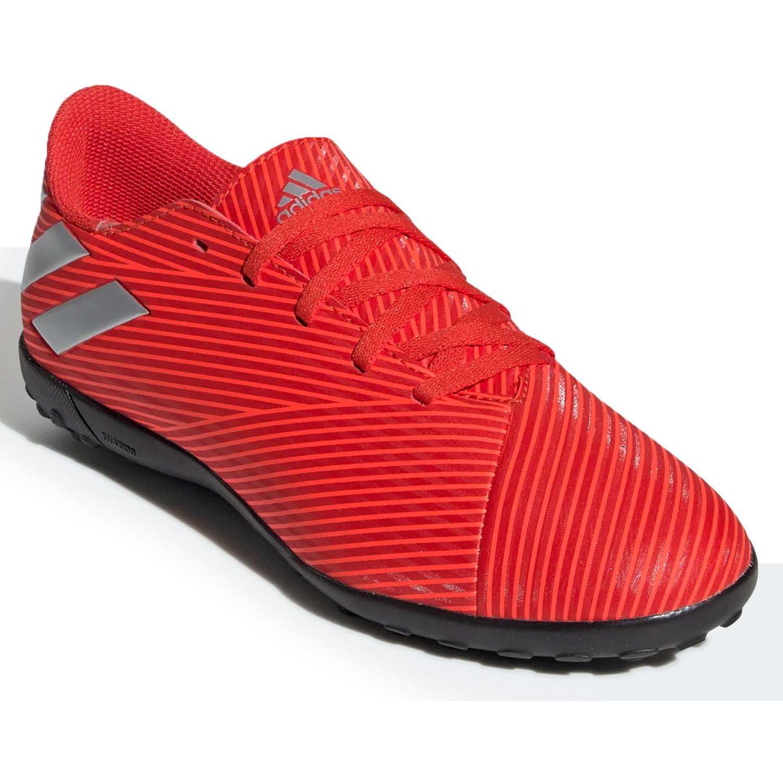 Adidas nemeziz 19.4 tf Rojo / blanco
