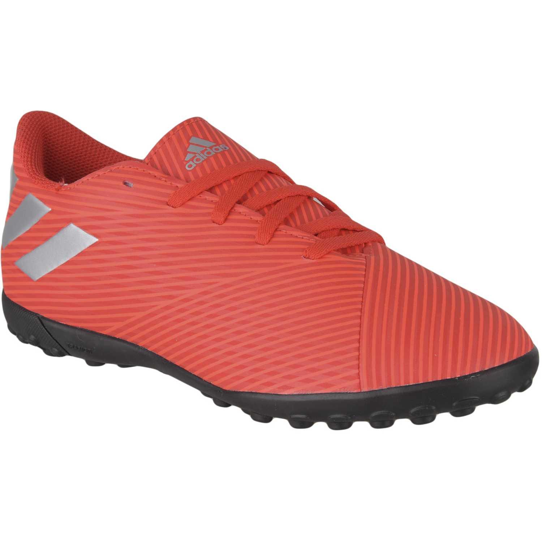 Adidas nemeziz 19.4 tf j Rojo blanco Muchachos
