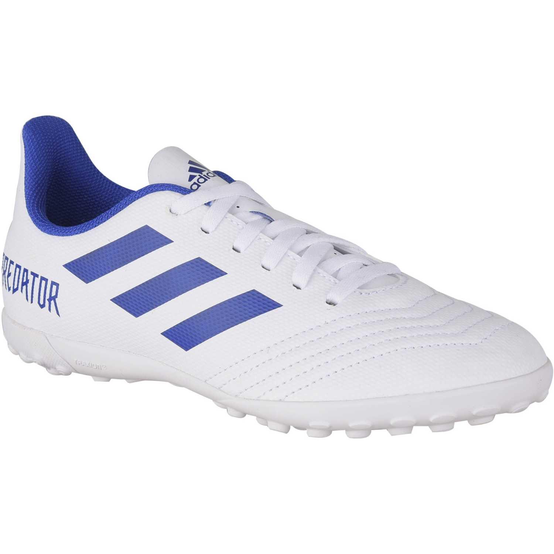 Adidas predator 19.4 tf j Blanco / azul Muchachos