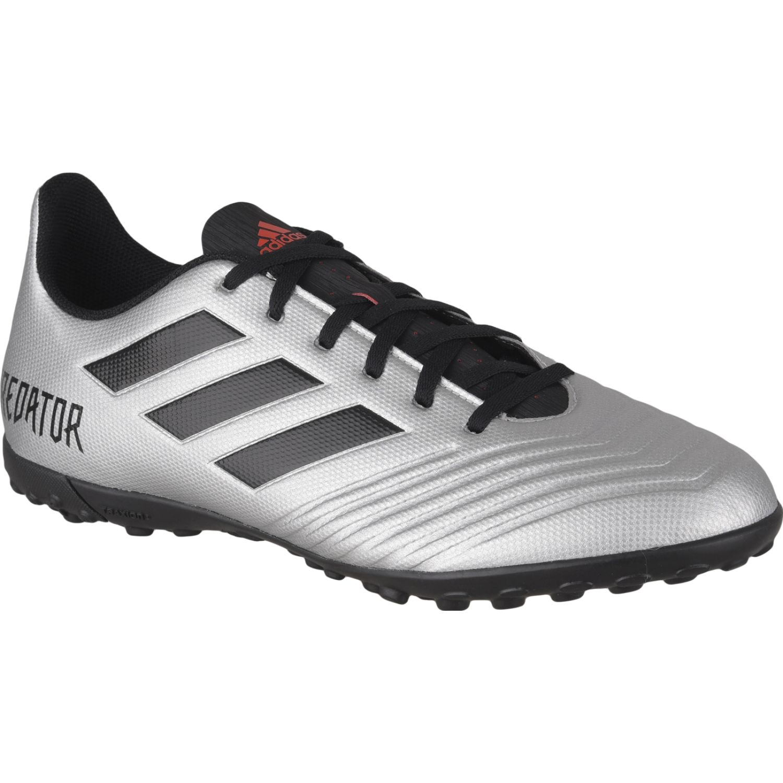 Adidas predator 19.4 tf Plateado / negro Hombres