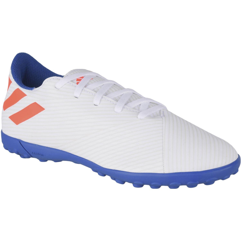 Adidas nemeziz messi 19.4 tf j Blanco / azul Muchachos