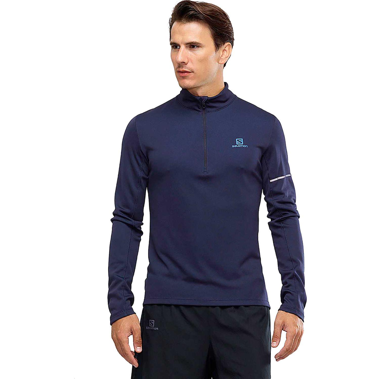 Salomon AGILE HZ MID M Navy Pullovers