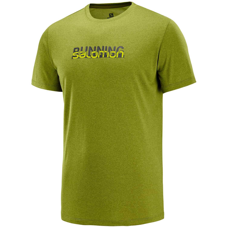 Salomon Agile Graphic Tee M Verde Camisetas y polos deportivos