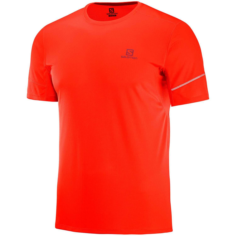 Salomon Agile Ss Tee M Naranja Camisetas y polos deportivos