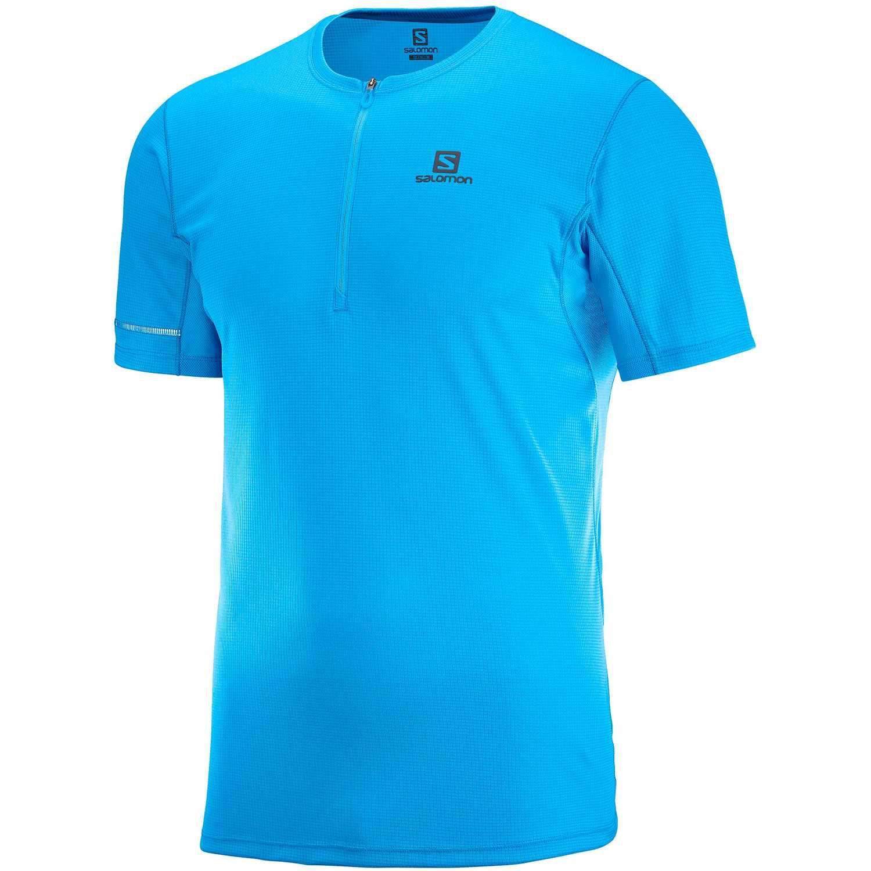 Salomon Agile Hz Ss Tee M Celeste Camisetas y polos deportivos