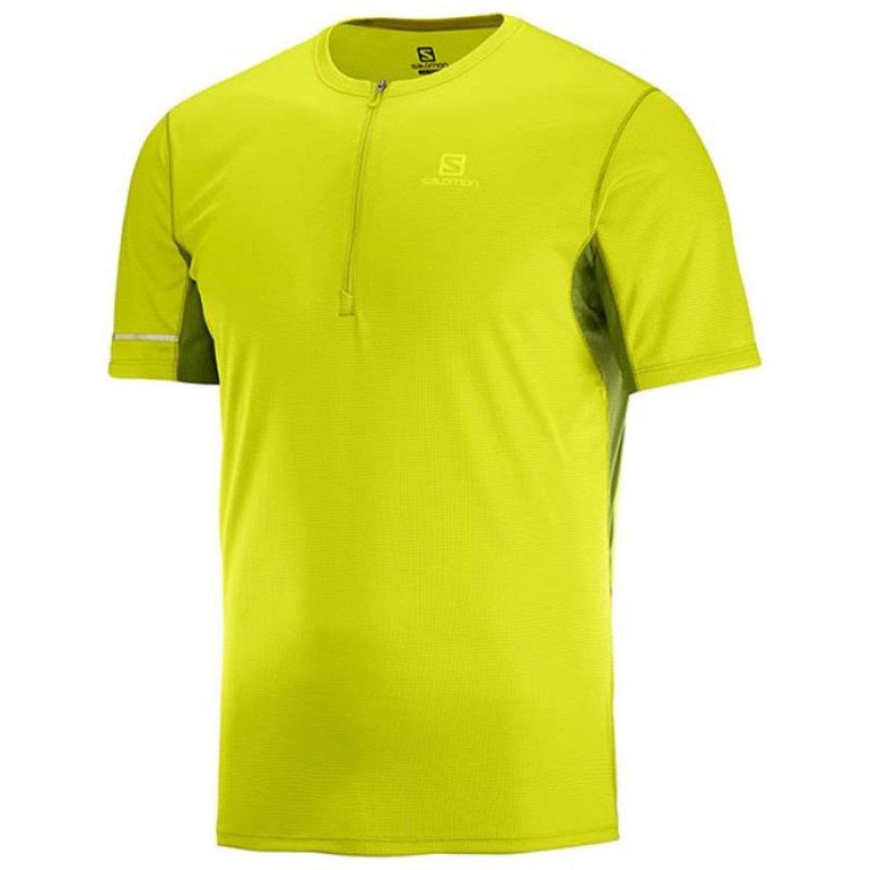 Salomon Agile Hz Ss Tee M Limón Camisetas y Polos Deportivos