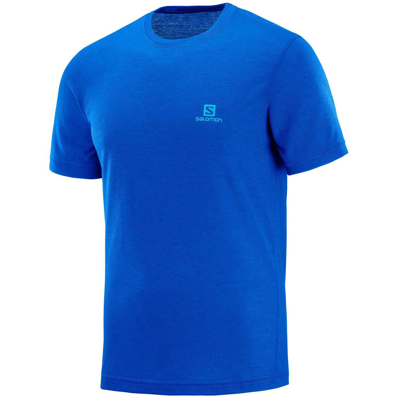 Salomon Explore Ss Tee M Azul Camisetas y Polos Deportivos