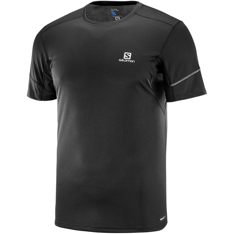Salomon AGILE SS TEE M Negro Camisetas y Polos Deportivos