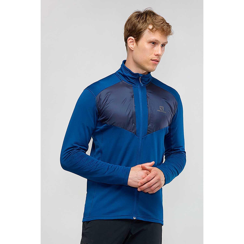 Salomon grid fz mid m Azul / negro Pullovers