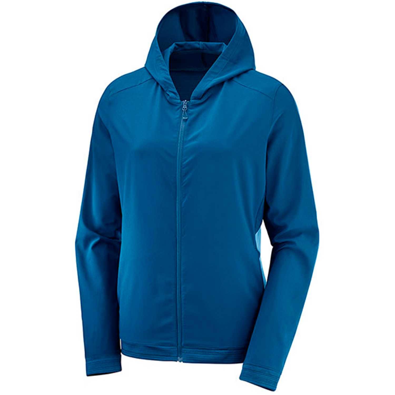 Salomon Comet Fz Hoodie W Azul Casacas deportivas