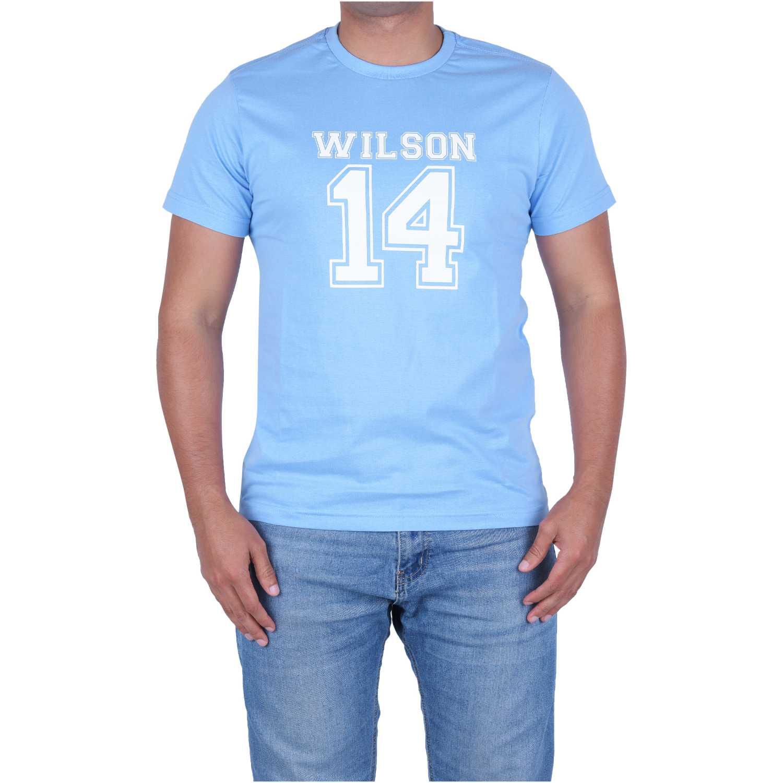 Wilson Camiseta Wilson 14 Ss M Az Ry Azul / blanco Camisetas y polos deportivos