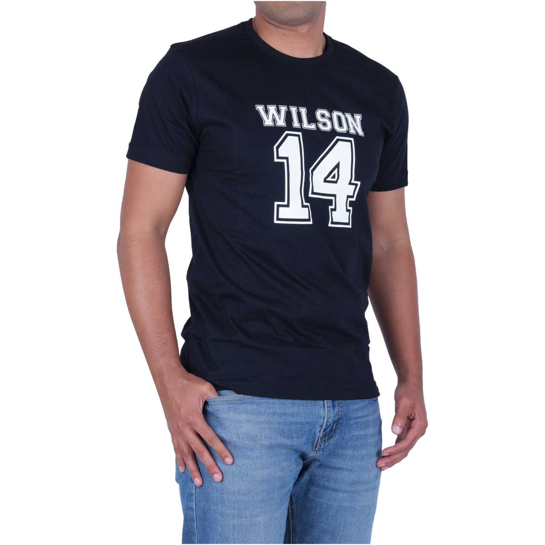 Wilson Camiseta Wilson 14 Ss Negro / blanco Camisetas y polos deportivos