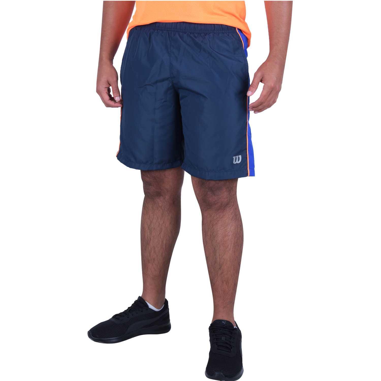 Wilson short tour m mr/neon lr Negro / morado Shorts Deportivos