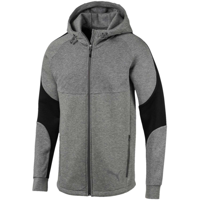 Puma evostripe fz hoody Gris / negro Hoodies y Sweaters Fashion