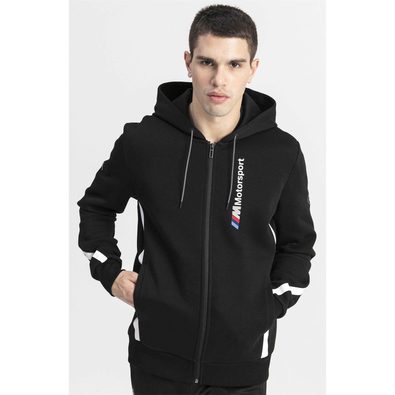 Casacas de Hombre Puma Negro / blanco bmw mms hooded sweat jacket