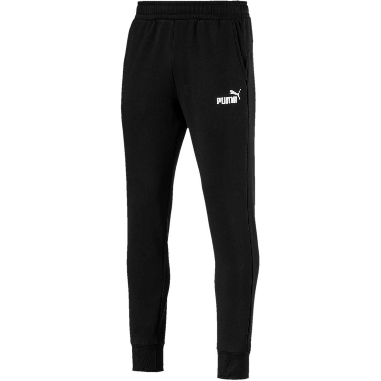 Puma ess+ slim pants fl Negro / blanco Pantalones Deportivos